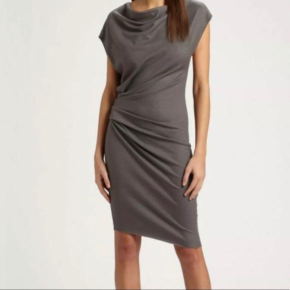 717ba83e90e Helmut Lang Dresses   Skirts - Helmut Lang Asymmetrical Merino Wool Dress  ...